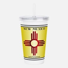 New Mexico Flag Licens Acrylic Double-wall Tumbler