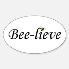 BEE-LIEVE Oval Decal