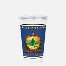 Vermont License Plate Acrylic Double-wall Tumbler