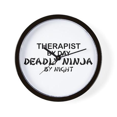 Therapist Deadly Ninja Wall Clock