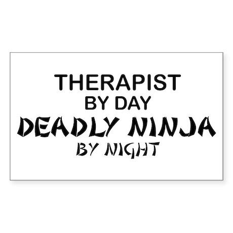 Therapist Deadly Ninja Rectangle Sticker