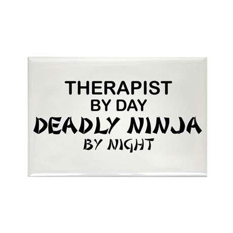Therapist Deadly Ninja Rectangle Magnet