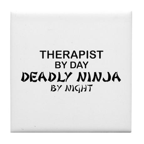 Therapist Deadly Ninja Tile Coaster