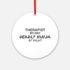 Therapist Deadly Ninja Ornament (Round)