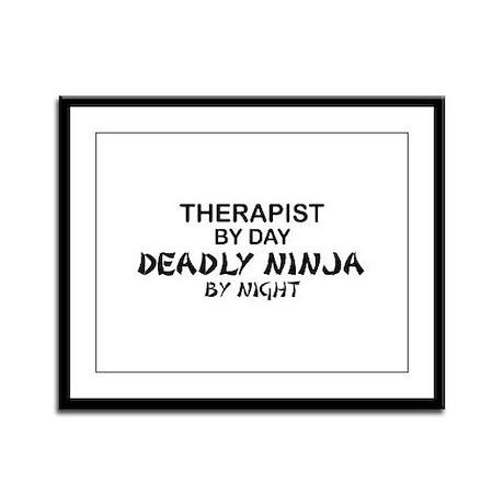 Therapist Deadly Ninja Framed Panel Print