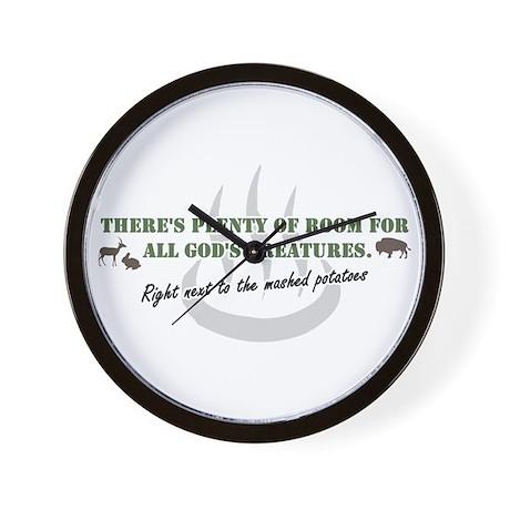 GOD'S BUFFET Wall Clock