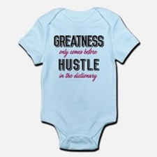 Greatness Comes Before Hustle Infant Bodysuit