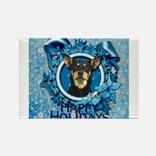 Blue_Snowflake_Australian_Kelpie_Sq Magnets