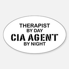 Therapist CIA Agent Oval Decal