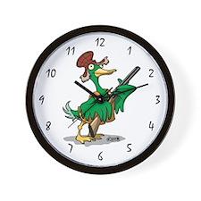 Skuzzo Hunting Duck with Gun Wall Clock