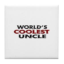 World's Coolest Uncle Tile Coaster