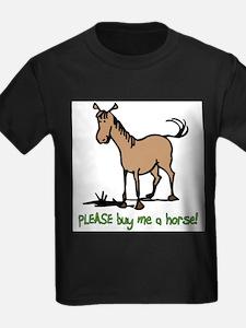 Buy me a horse saying Ash Grey T-Shirt