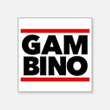 "Gambino Square Sticker 3"" x 3"""