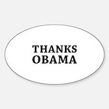Thanks Obama Decal