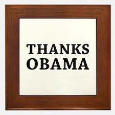 Thanks Obama Framed Tile