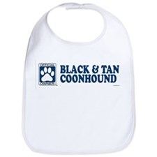 BLACK  TAN COONHOUND Bib