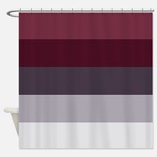 Burgundy Color Shower Curtains