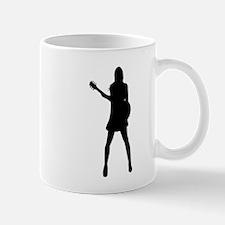 Girl Musician Silhouette Mugs