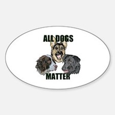 Cute Obey the labrador Sticker (Oval)