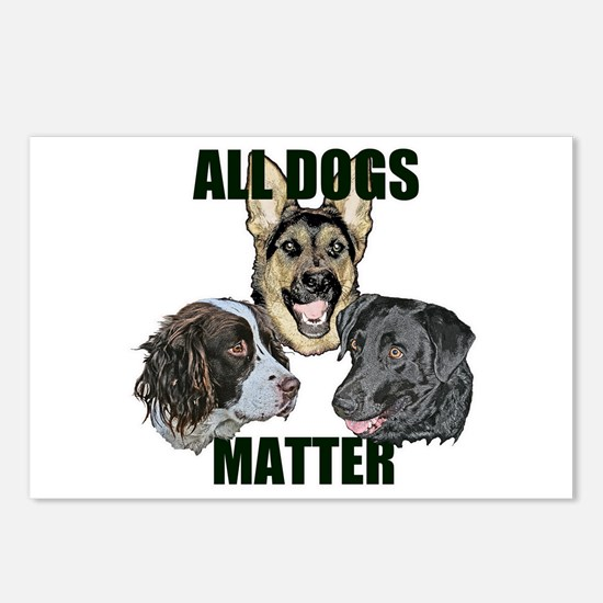All dogs matter Postcards (Package of 8)