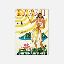 Hawaii Hula Dancer Retro Vintage 5'x7'area