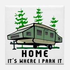 Camping Home Tile Coaster