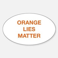 Orange Lies Matter Decal