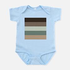 Sage Espresso brown Stripes Body Suit