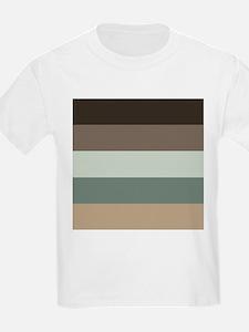 Sage Espresso brown Stripes T-Shirt