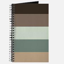 Sage Espresso brown Stripes Journal