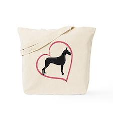 CBlk Heartline Tote Bag