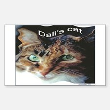 Dali's Cat Rectangle Decal