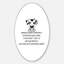 Unique Peeing dog Sticker (Oval)