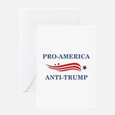 Pro-America Anti-Trump Greeting Card