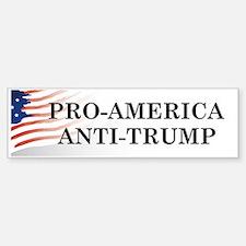 Pro-America Anti-Trump Bumper Bumper Bumper Sticker