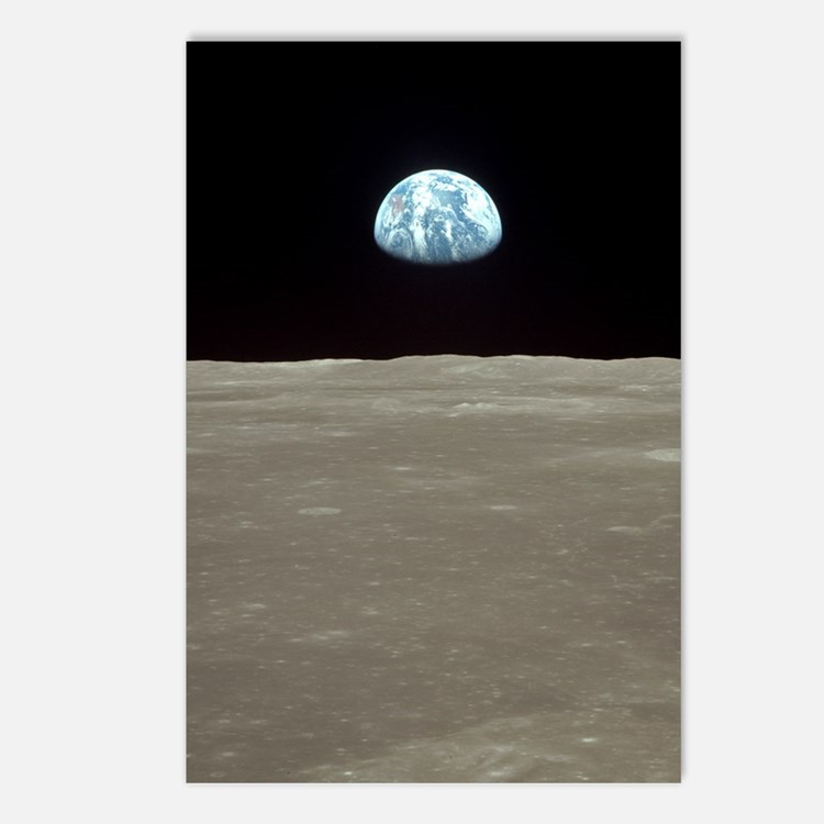 Cute Earth rise Postcards (Package of 8)