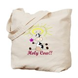 Holy cow Canvas Totes