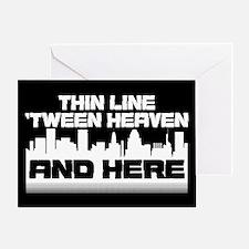 Thin Line Greeting Card