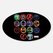 Marvel All Splatter Icons Decal