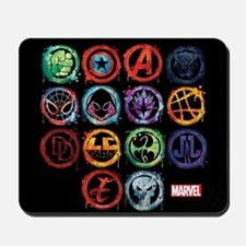 Marvel All Splatter Icons Mousepad