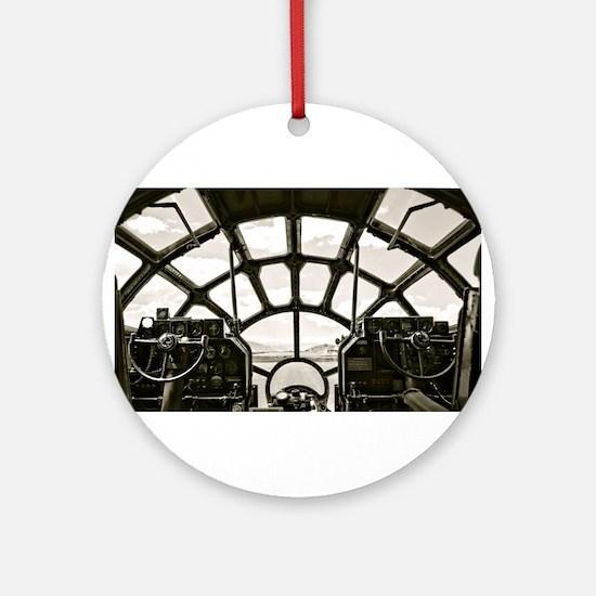 B-29 Cockpit Round Ornament