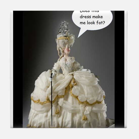 Does this dress make me look fat? Tile Coaster