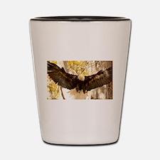 Bald Eagle in Flight Shot Glass