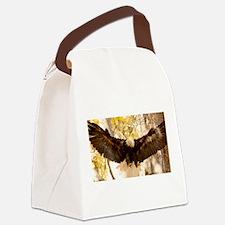 Bald Eagle in Flight Canvas Lunch Bag