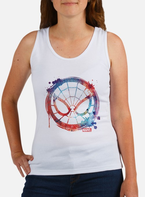 Spider-Man Icon Splatter Women's Tank Top