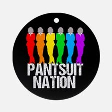 Pantsuit Nation Round Ornament