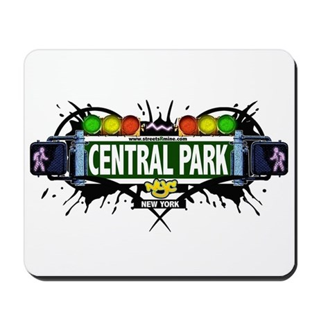 Central Park (White) Mousepad