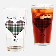 Heart-Hay dress Drinking Glass
