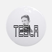 Cute Tesla coil Round Ornament