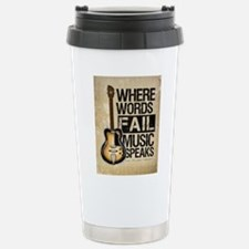 Unique Guitar Travel Mug